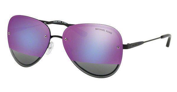 MICHAEL KORS Michael Kors Damen Sonnenbrille »LA JOLLA MK1026«, schwarz, 1169F1 - schwarz/rosa