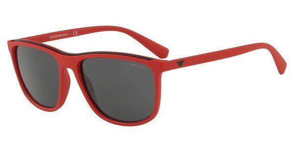 Emporio Armani Herren Sonnenbrille » EA4109«, rot, 563987 - rot/grau
