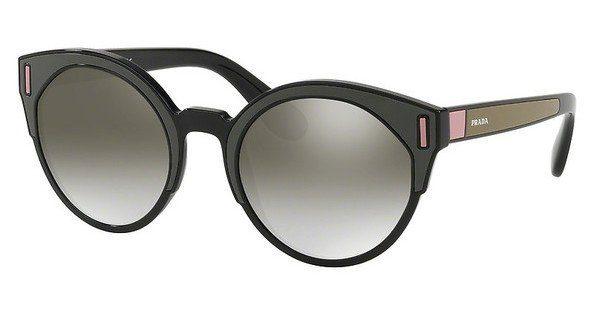 PRADA Prada Damen Sonnenbrille » PR 03US«, schwarz, SVK5O0 - schwarz/silber