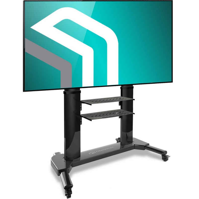 ONKRON »TV Standfuss mit Rollen (TS2771-BLK)« TV-Ständer, (bis 80 Zoll TV-Ständer, TV-Ständer, rollbar, höhenverstellbar, mit Rollen, mit Bewegunssperre, Aluminium, Metall, VESA 200x200-700x400 mm, tragbar bis 45,5 kg)