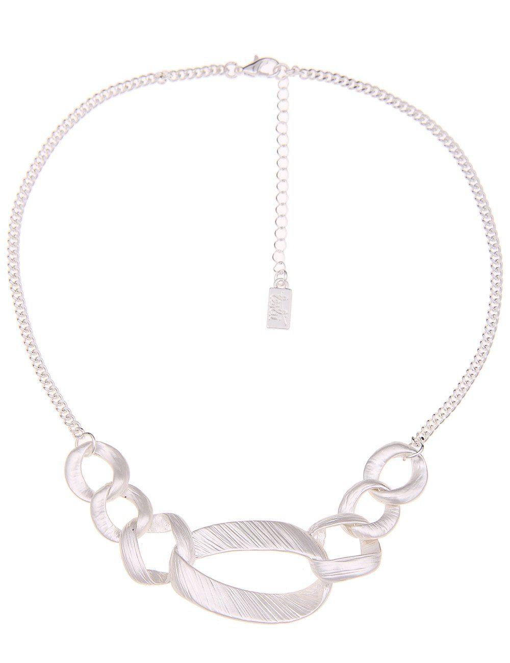 Leslii Halskette mit mattierten Gliedern