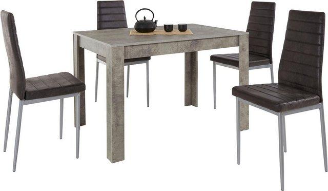 Essgruppen - Essgruppe »0«, (Set, 5 tlg), mit Esstisch »Lynn«, Breite 120 cm und 4 x Stuhl »Kate«  - Onlineshop OTTO