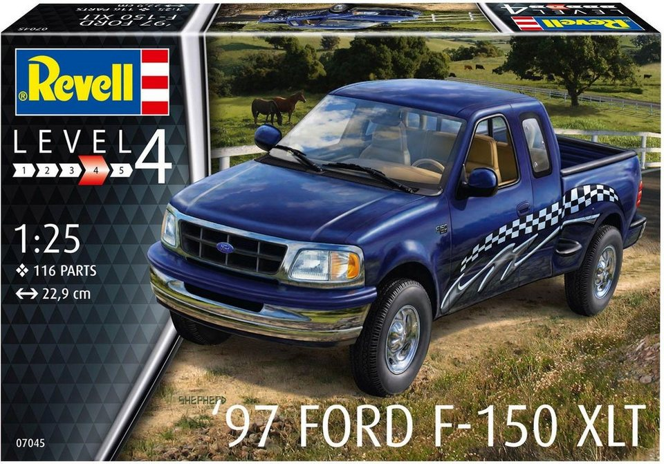 revell modellbausatz auto ma stab 1 25 97 ford f 150. Black Bedroom Furniture Sets. Home Design Ideas