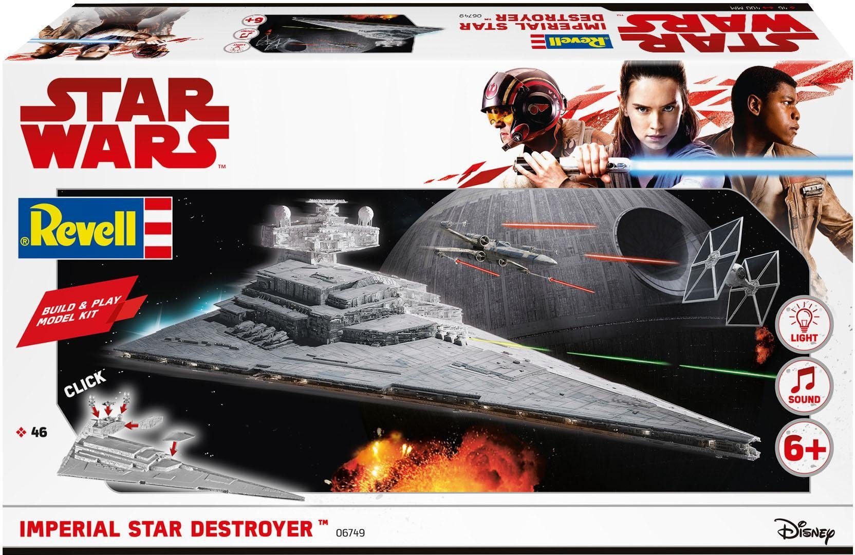 Revell Modellbausatz Raumschiff, 1:4000, »Build & Play-Disney Star Wars™ Imperial Star Destroyer™«