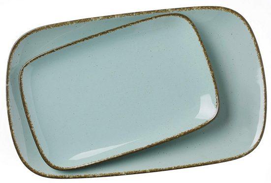 Ritzenhoff & Breker Servierplatte »Casa«, Steinzeug, (Set, 2-tlg., 1 Platte groß, 1 Platte klein)