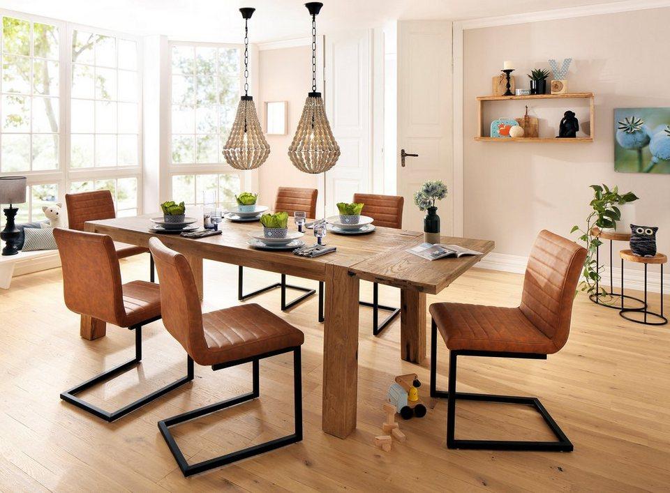 home affaire esstischgruppe alberte 7 tlg bestehend aus dem sabina stuhl marianne esstisch. Black Bedroom Furniture Sets. Home Design Ideas