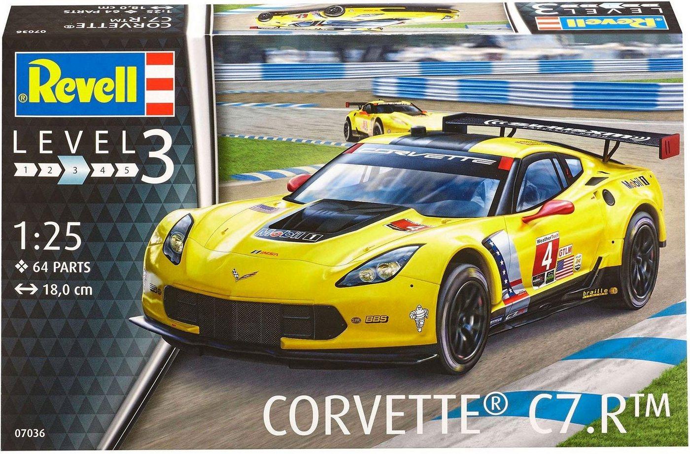 Revell Modellbausatz Auto mit Zubehör Maßstab 1:25, »Model Set Corvette C7.R«