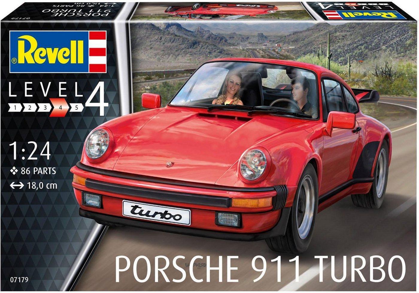 Revell Modellbausatz Auto mit Zubehör Maßstab 1:24, »Model Set Porsche 911 Turbo«