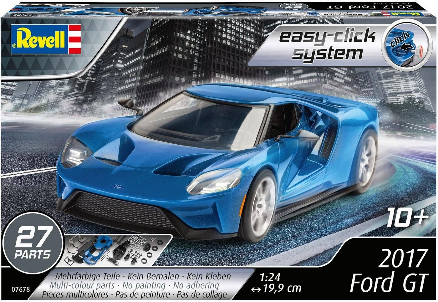 Revell Modellbausatz Auto, Maßstab 1:24, »2017 Ford GT, easy-click-system«