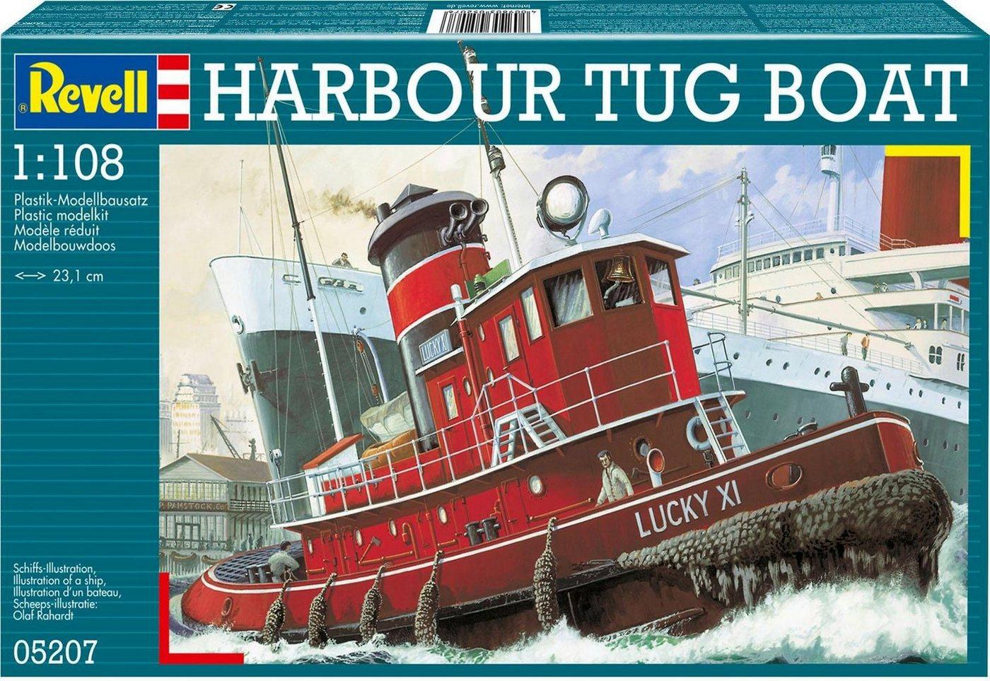 Revell Modellbausatz Schiff mit Zubehör Maßstab 1:108, »Model Set Harbour Tug Boat«