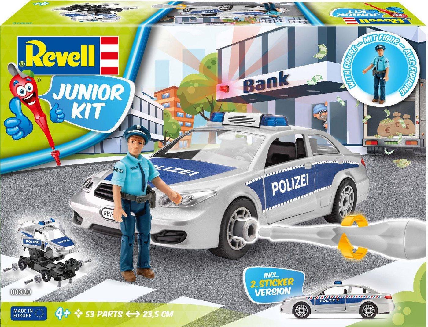 Revell Modellbausatz Auto mit Spielfigur, »Junior Kit Polizei «
