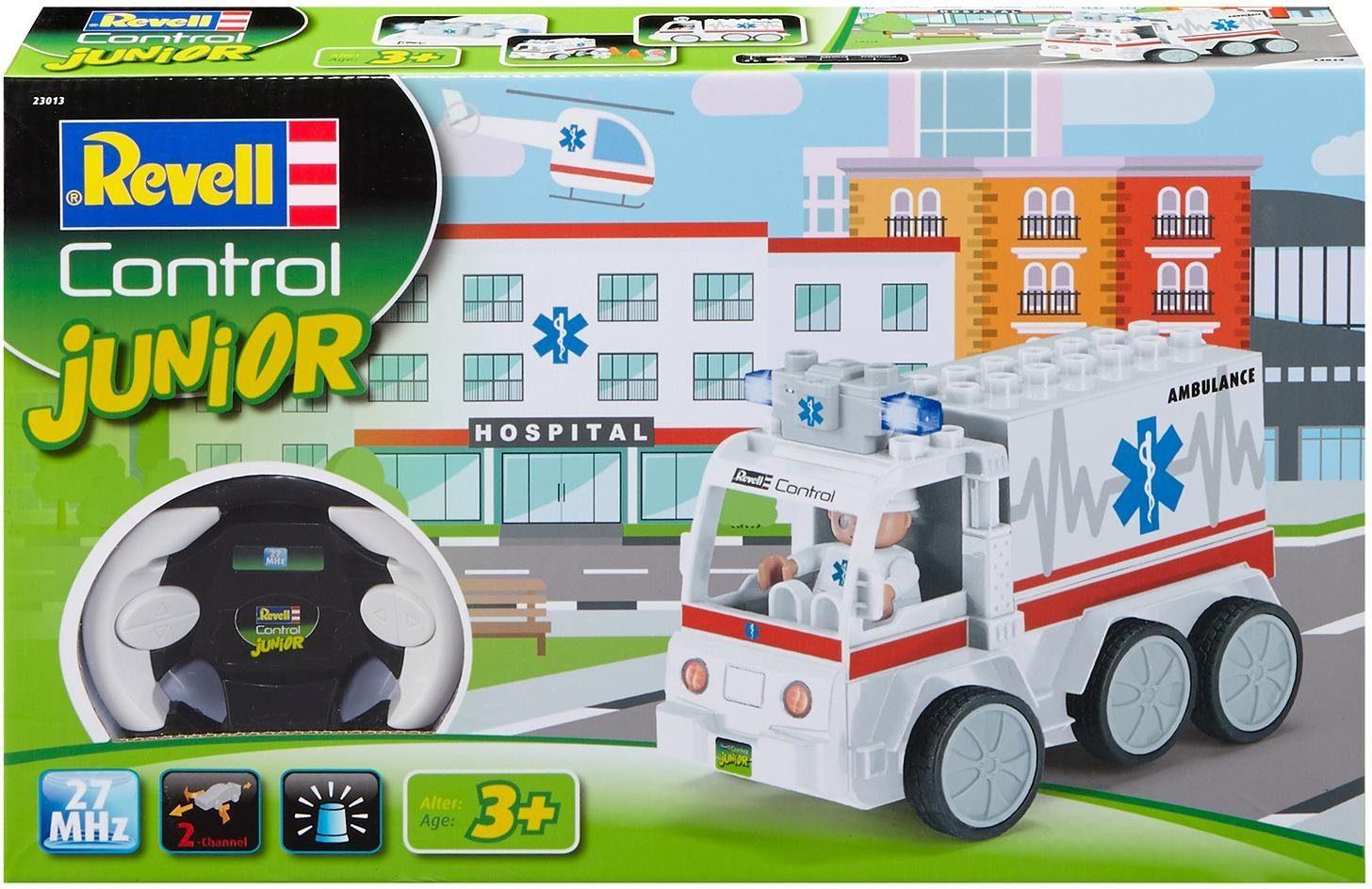 Revell RC Auto mit Blinklicht, »Revell® control, RC Junior Krankenwagen, 27 MHz«