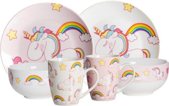 Ritzenhoff & Breker Kindergeschirr-Set »Unicorn« (6-tlg), Porzellan