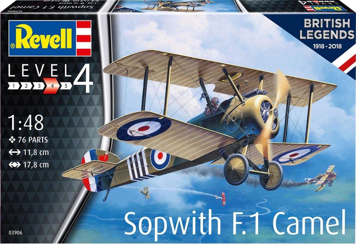 Revell Modellbausatz Flugzeug, Maßstab 1:48, »British Legends 1918-2018, Sopwith F.1 Camel«