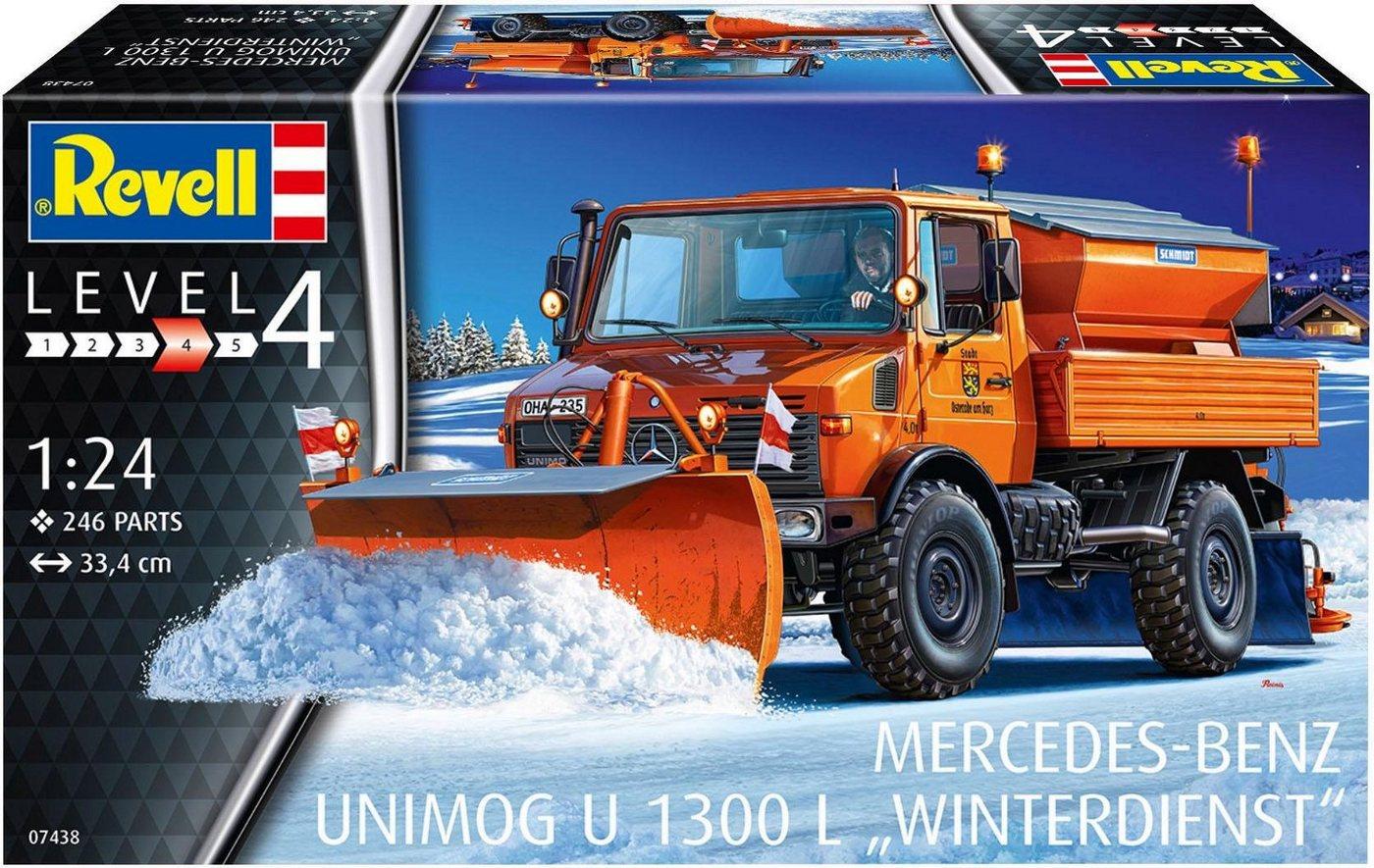 Revell Modellbausatz Unimog, Maßstab 1:24, »Mercedes-Benz U 1300 L - Winterdienst«