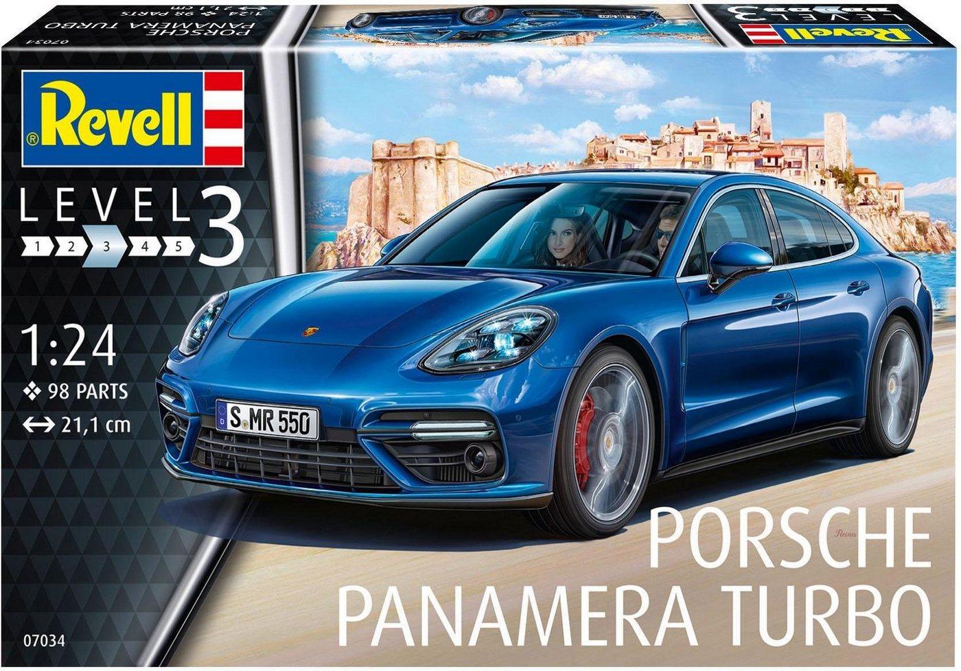 Revell Modellbausatz Auto mit Zubehör Maßstab 1:24, »Model Set Porsche Panamera Turbo«
