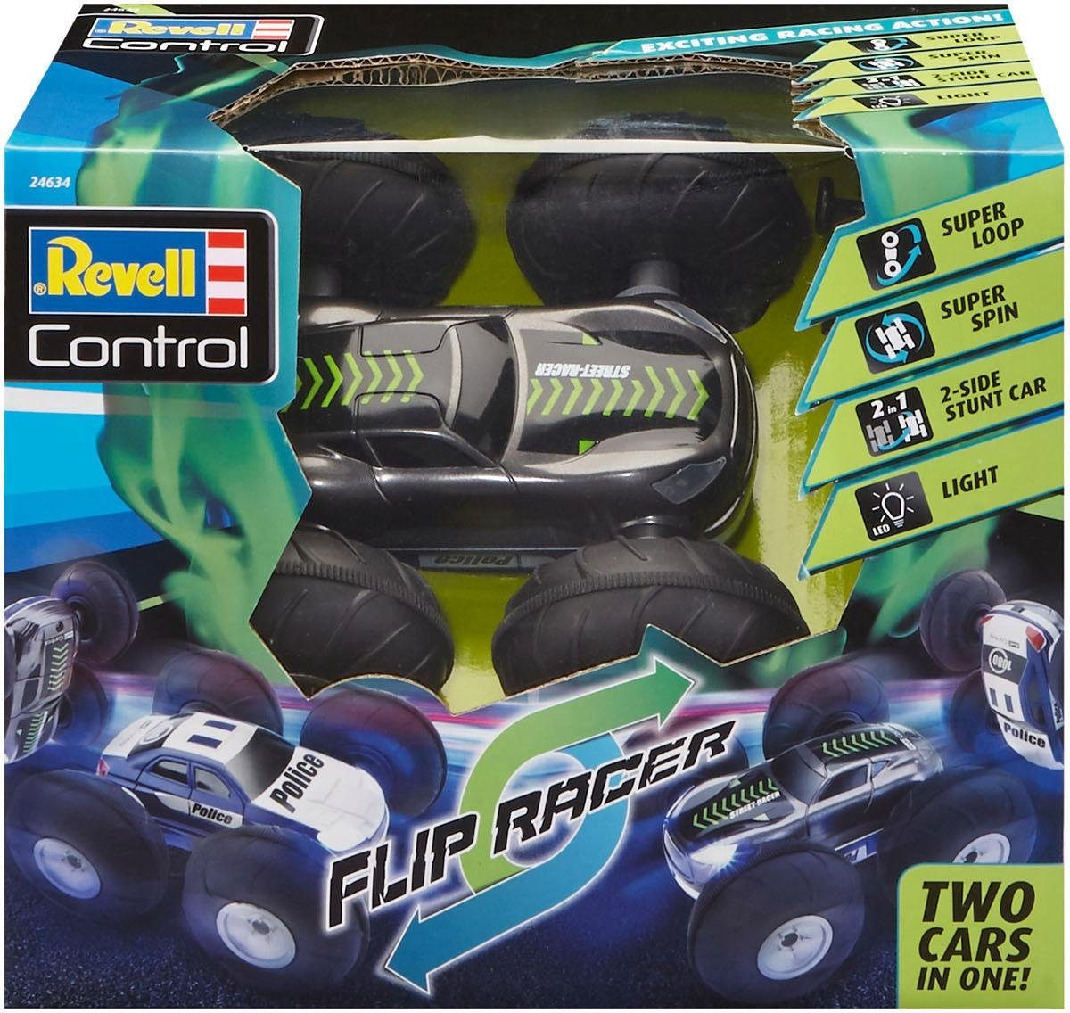 Revell RC Auto mit LED-Beleuchtung, »Revell® control, Stunt Car Flip Racer, 27 MHz«