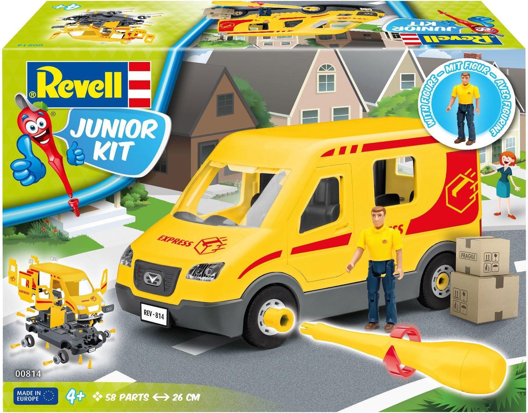 Revell Modellbausatz Auto mit Spielfigur, »Junior Kit Paketdienst-Fahrzeug«