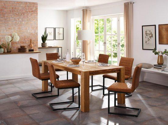 Home affaire Essgruppe »Alberte«, (Set, 7-tlg), bestehend aus dem Sabina Stuhl + Marianne Esstisch