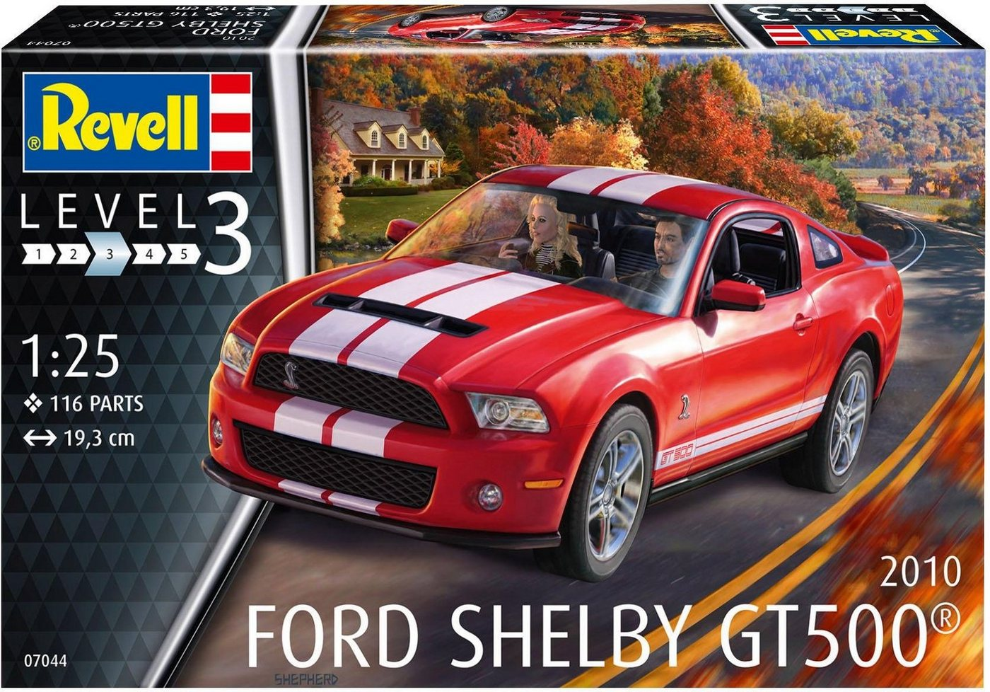 Revell Modellbausatz Auto, Maßstab 1:25, »2010 Ford Shelby GT 500®«