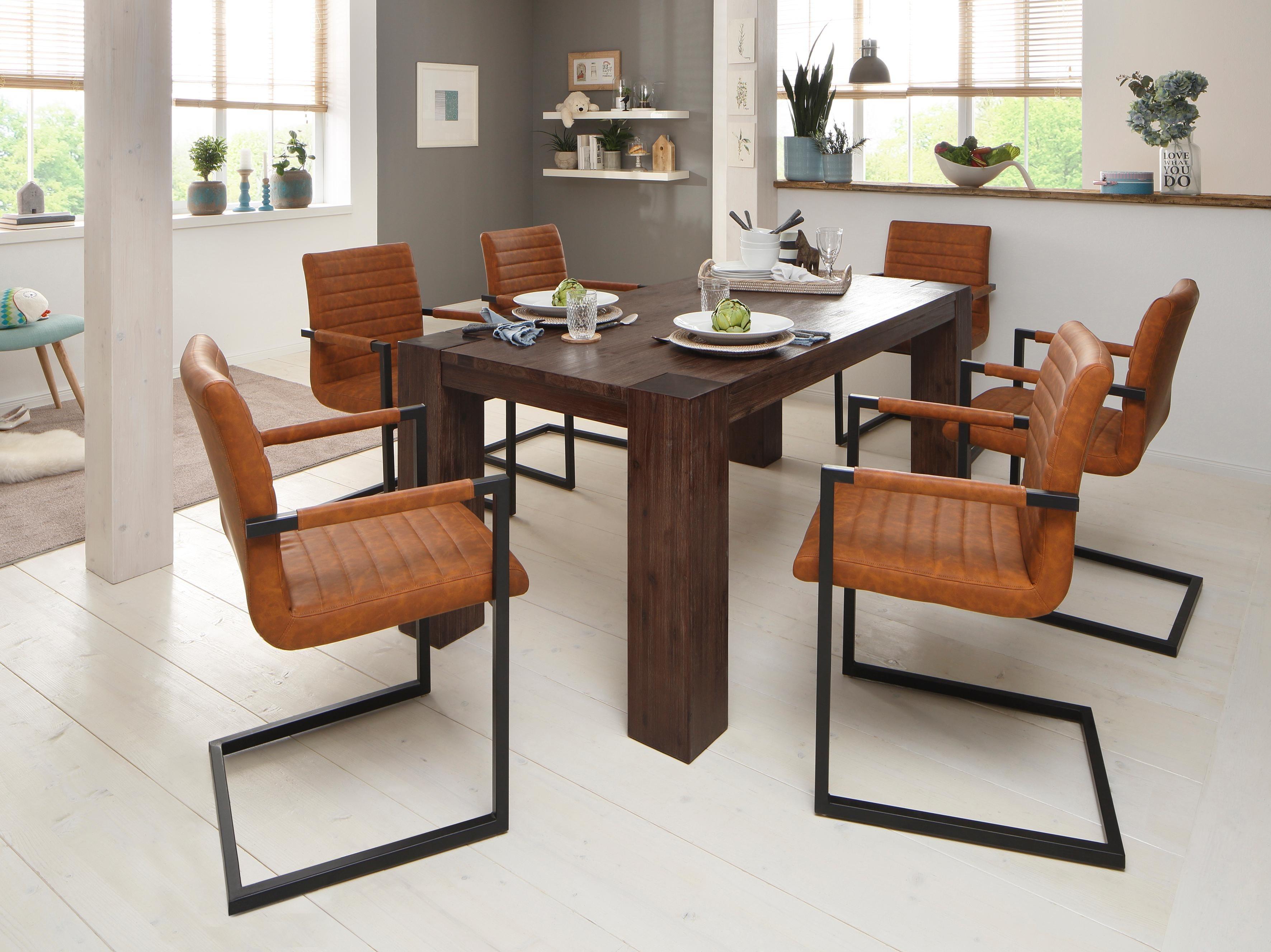 Exquisit Esstisch Stühle Mit Armlehne Referenz Von Essgruppenset Â«bineÂ« Bestehend Aus 6 Sabine Stühlen