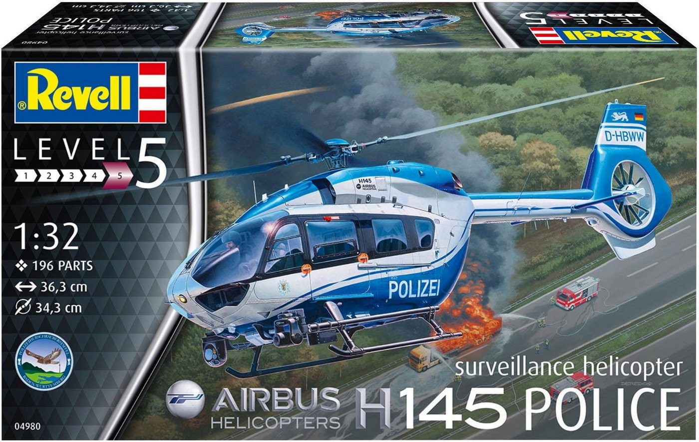 Revell Modellbausatz Helikopter, Maßstab 1:32, »Airbus H145 - Polizei-Hubschrauber«