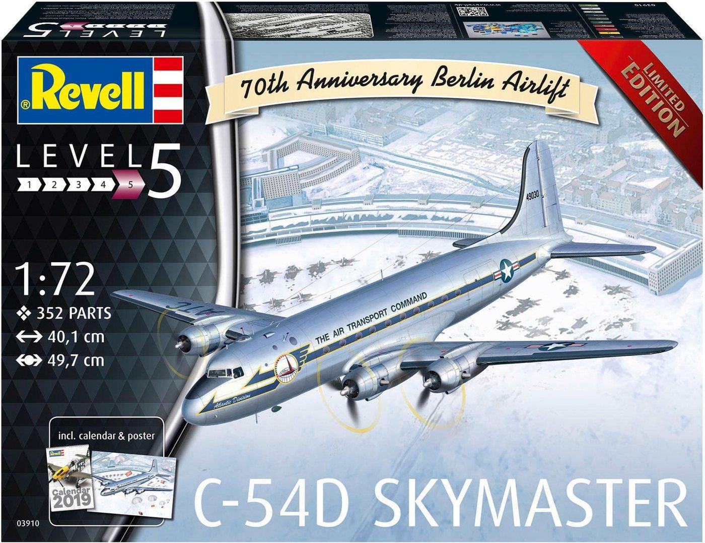 Revell Modellbausatz Flugzeug, 1:72, »C-54D Skymaster, Limited Edition-70 Jahre Berliner Luftbrücke«