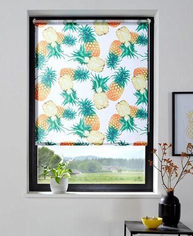 Seitenzugrollo »Ananas«, my home, Lichtschutz, ohne Bohren