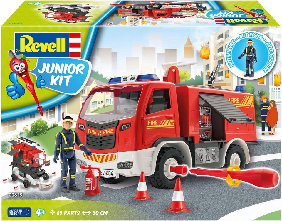 revell modellbausatz auto mit spielfigur junior kit feuerwehr online kaufen otto. Black Bedroom Furniture Sets. Home Design Ideas