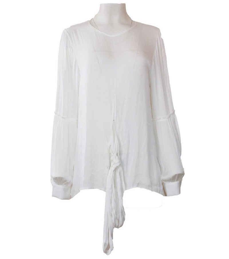 Herrlicher Langarmbluse »Herrlicher Dilja Seiden-Bluse trageangenehme Damen Langarm-Bluse Sommer-Bluse Weiß«