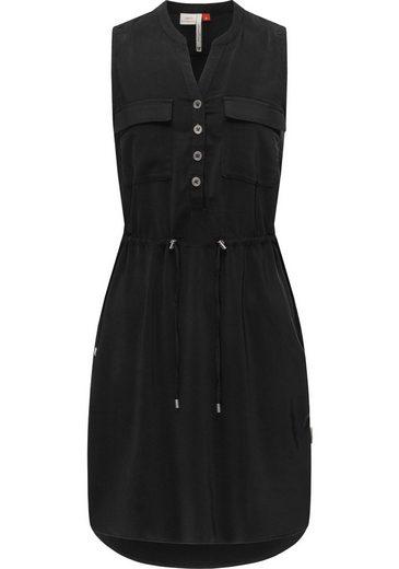 Ragwear Blusenkleid »Roisin« stylisches Sommerkleid mit Bindeband