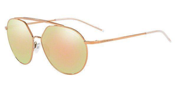 Emporio Armani Herren Sonnenbrille » EA2070«, schwarz, 30017D - schwarz/braun