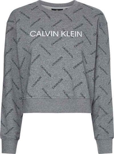 Calvin Klein Performance Sweatshirt »PW - Pullover« mit allover mit kleinem Calvin Klein Logo-Schriftzug & großem Schriftzug auf der Brust