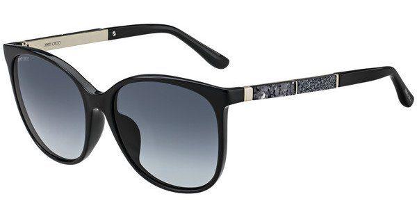 JIMMY CHOO Jimmy Choo Damen Sonnenbrille » CHARLY/F/S«, schwarz, 807/9O - schwarz/grau