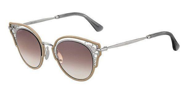 JIMMY CHOO Jimmy Choo Damen Sonnenbrille » DHELIA/S«, braun, 9FZ/NQ - braun/braun