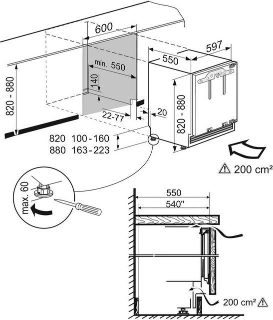 Liebherr Einbaukühlschrank Premium UIKP 1550-20, 82 cm hoch, 60 cm breit | Küche und Esszimmer > Küchenelektrogeräte > Kühlschränke | Liebherr
