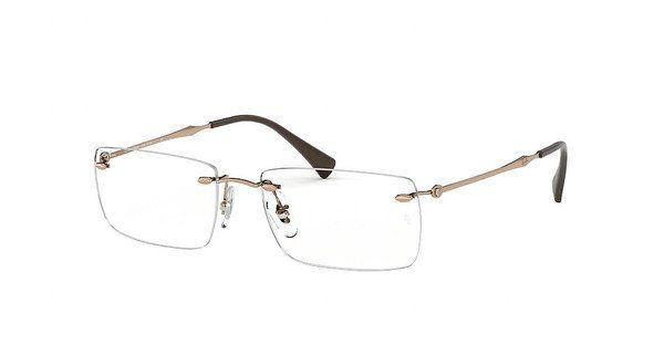 RAY BAN RAY-BAN Herren Brille » RX8755«, braun, 1131 - braun