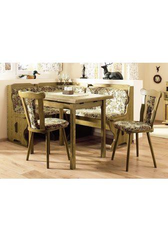 HOME AFFAIRE Kampinis virtuvės suolas su kėdėmis (R...