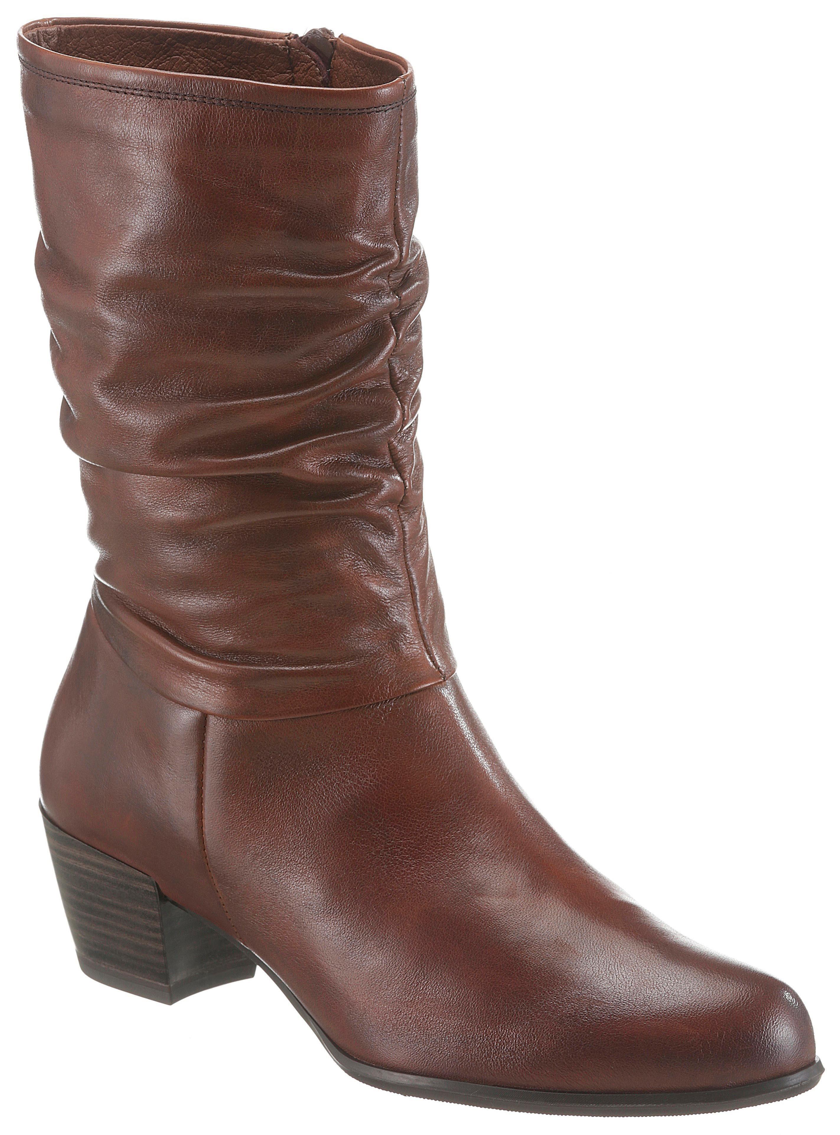 Tamaris »Ocimum« Stiefel mit kurzem, gerafftem Schaft online kaufen | OTTO