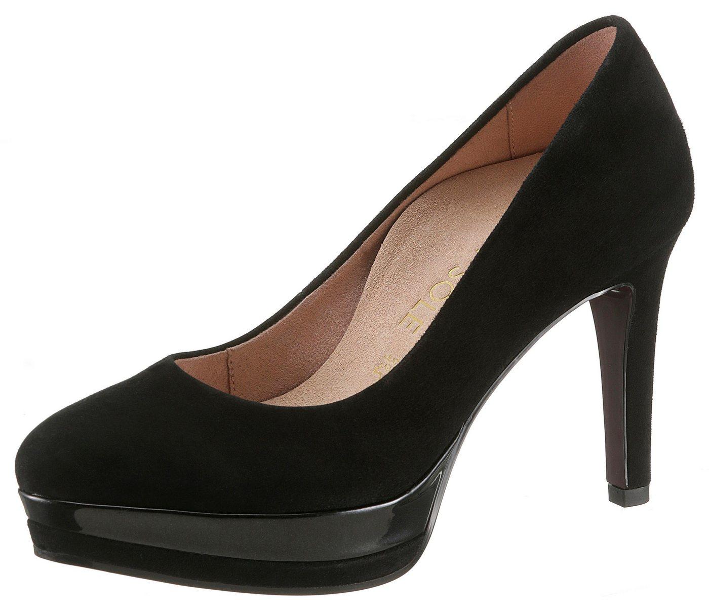 Tamaris »Heart & Sole« High-Heel-Pumps mit herausnehmbarer Lederdecksohle | Schuhe > High Heels | Schwarz | Tamaris