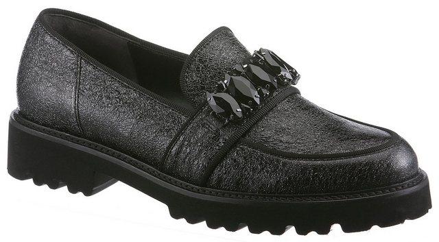 Gabor Slipper in trendiger Crashoptik | Schuhe > Slipper | Schwarz | Gabor