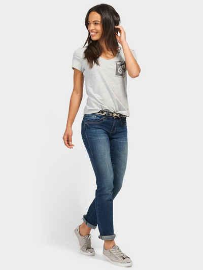 ea446eda481c5b Tom Tailor Straight-Jeans »Alexa Straight mit Gürtel«