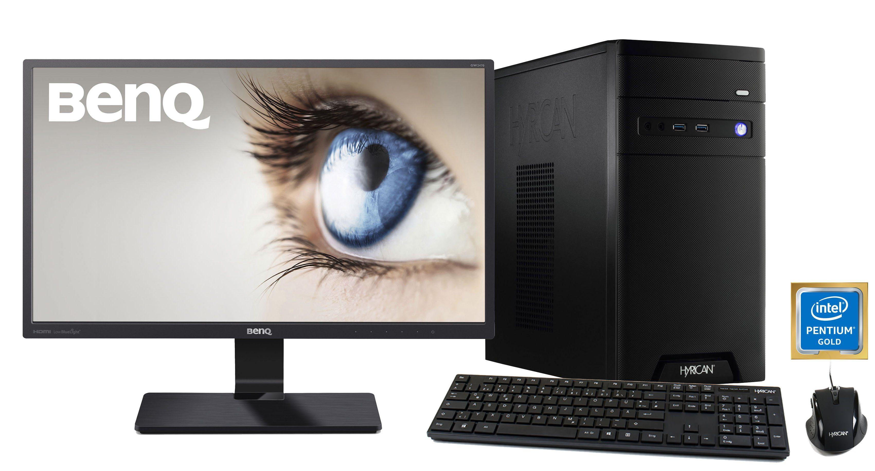 HYRICAN Pentium G5400 8GB 120GB 1TB GeForce® GTX 1050Ti + Monitor »CyberGamer SET1370«