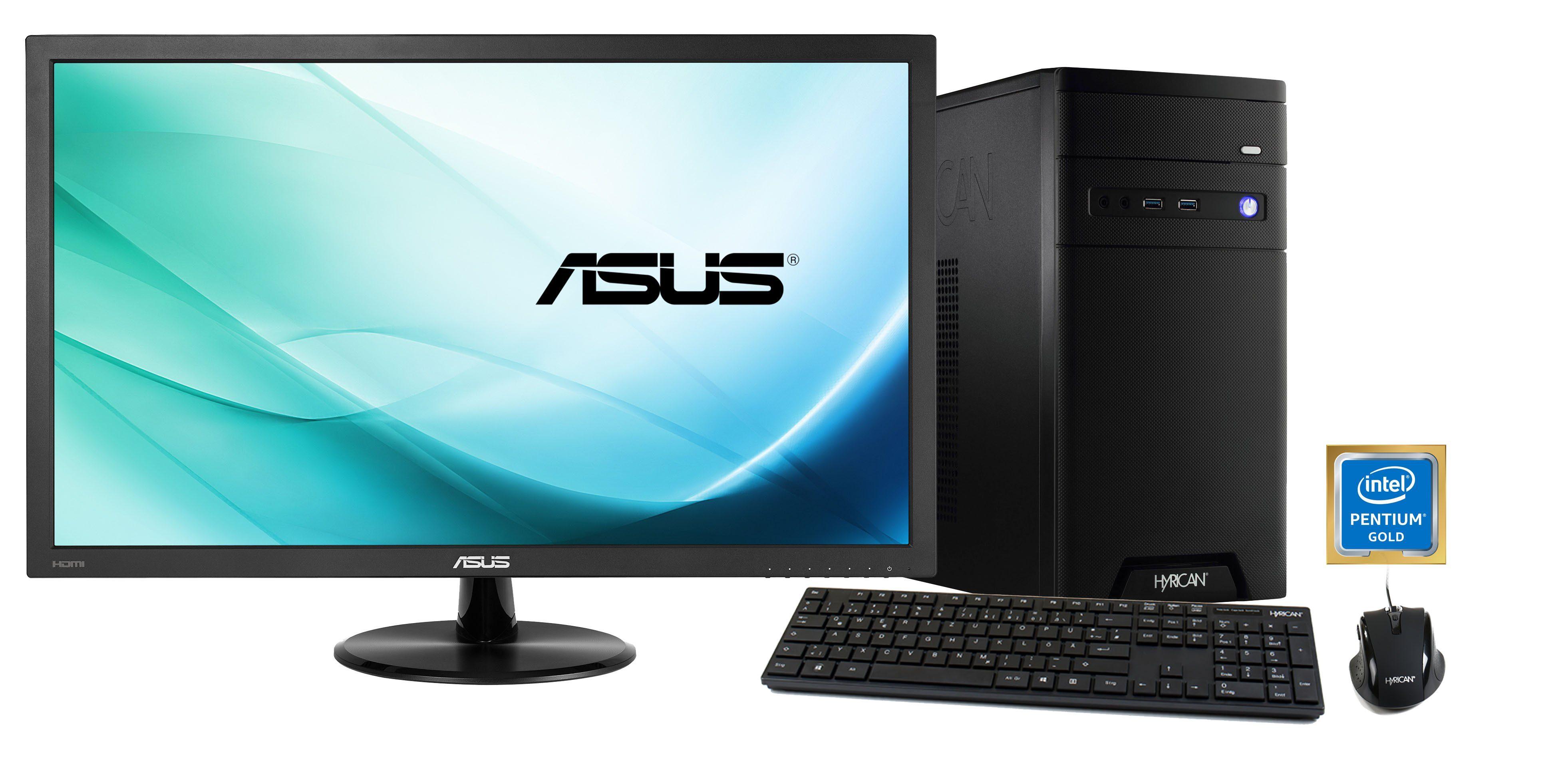 HYRICAN Pentium G5400 8GB 120GB 1TB GeForce® GTX 1050Ti + Monitor »CyberGamer SET1366«