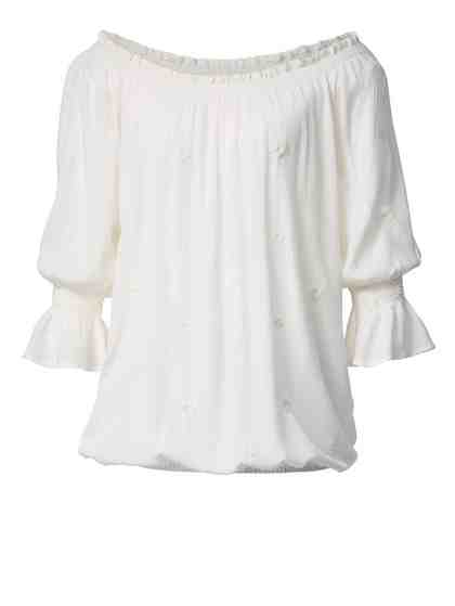 Angel of Style by Happy Size Carmen-Bluse mit Stickerei