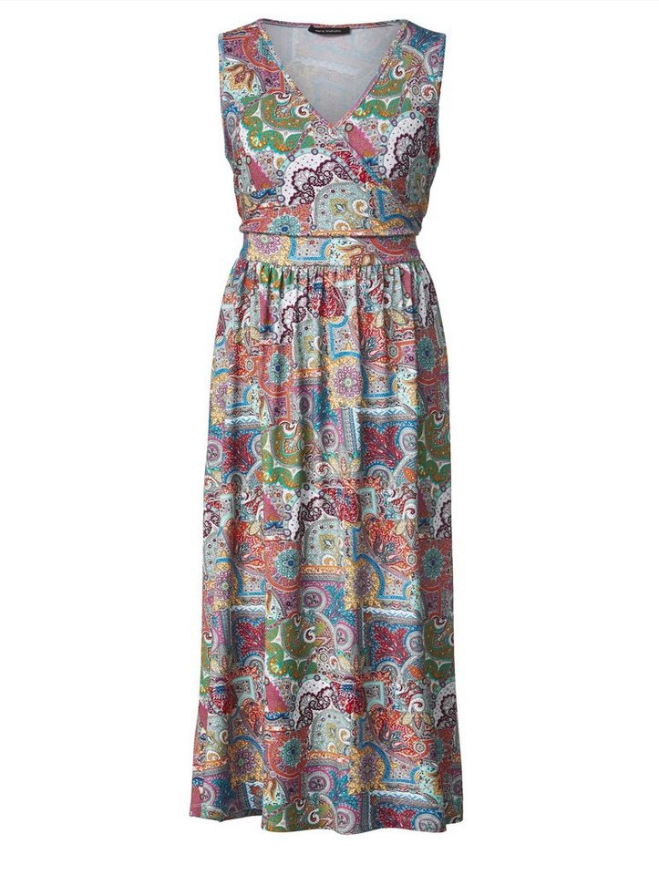 eef0306abb75d5 Sara Lindholm by Happy Size Jersey-Maxikleid mit Allover-Print ...