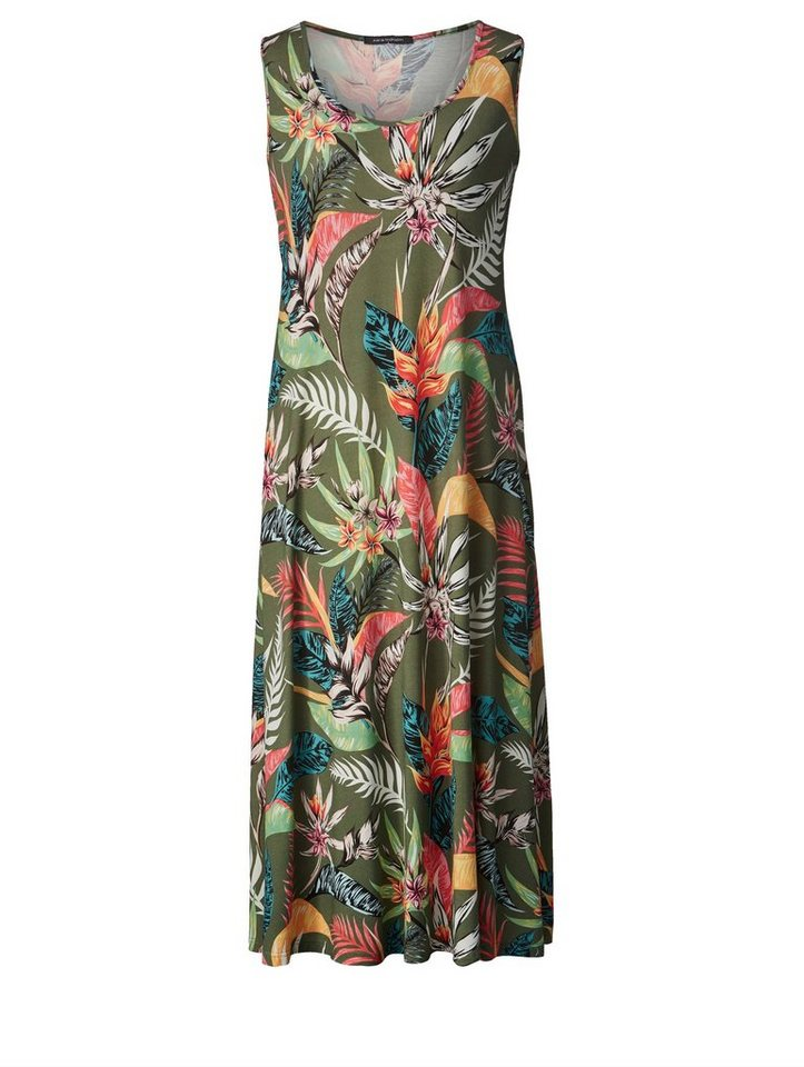 3b6660b15f64cc Sara Lindholm by Happy Size Jersey-Maxikleid mit Blumen-Print ...