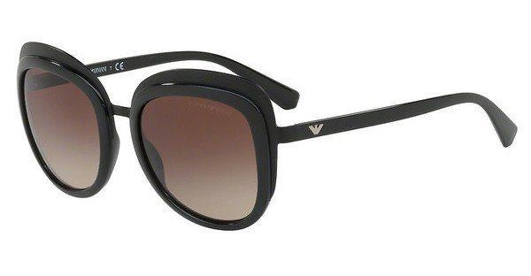 Emporio Armani Damen Sonnenbrille » EA2058«, schwarz, 300113 - schwarz/braun