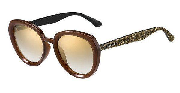 JIMMY CHOO Jimmy Choo Damen Sonnenbrille » MACE/S«, schwarz, AE2/JL - schwarz/ gold