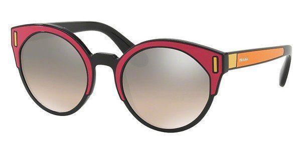 PRADA Prada Damen Sonnenbrille » PR 03US«, schwarz, SVS4P0 - schwarz/silber